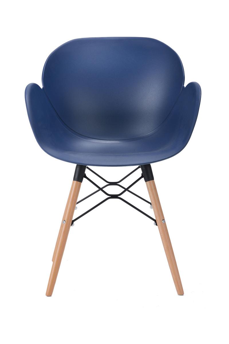 sitzm bel design st hle dunkelblauer stuhl top modern aus kunststoff hochwertig ebay. Black Bedroom Furniture Sets. Home Design Ideas