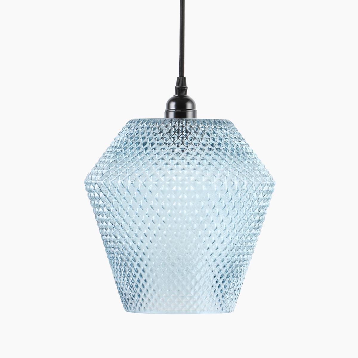 pendelleuchte inkl stecker glash ngeleuchte h ngelampe deckenlampe blau schwarz ebay. Black Bedroom Furniture Sets. Home Design Ideas
