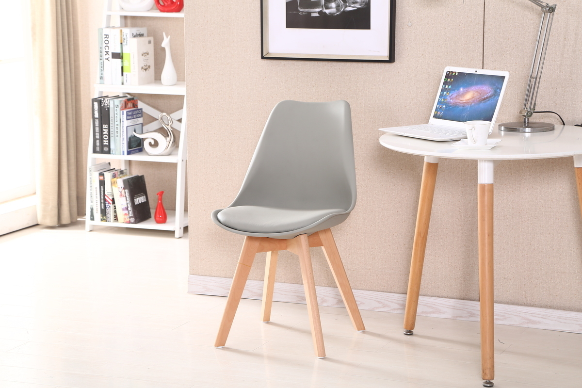 2er set st hle hochwertig stuhlbeine aus holz design for Stuhl modern grau
