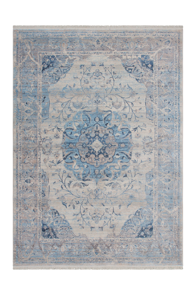 shabby teppich orientalisch teppiche modern used look grau blau blau 80x150cm ebay. Black Bedroom Furniture Sets. Home Design Ideas