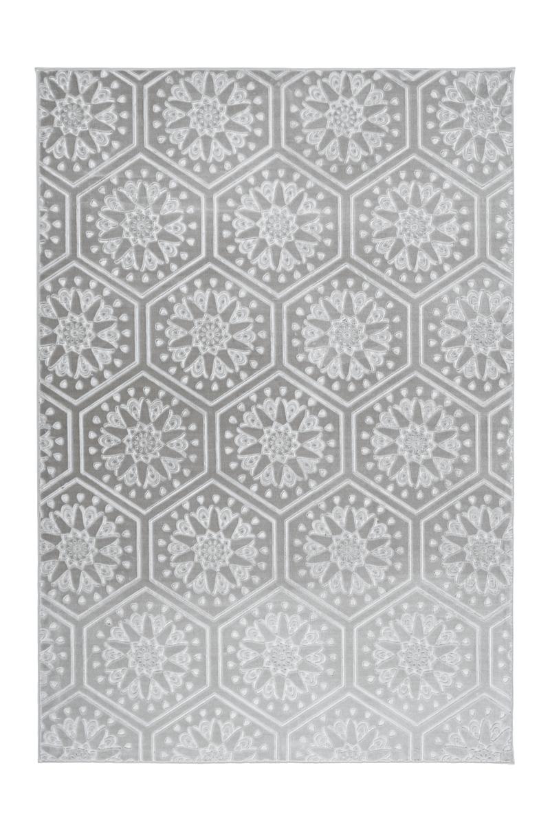 Teppich Marokkanisches Muster Ornamente Muster Teppiche Grau Silber