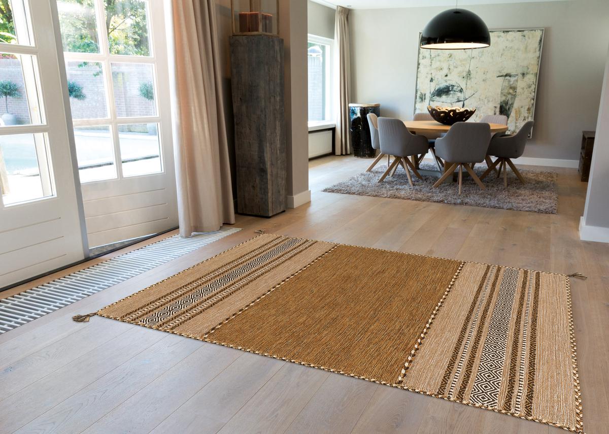 Details About Arte Espina Carpet 100 Wool Living Room Kilim Fringe Beige 60x90cm