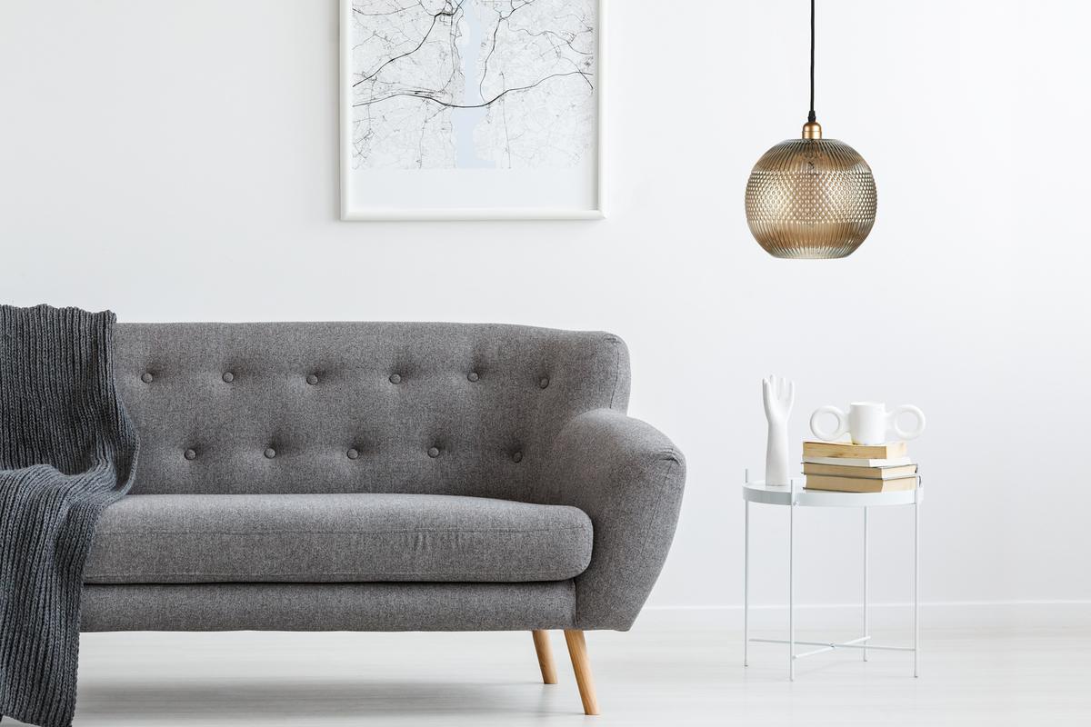 Design-Pendelleuchte Glashängeleuchte Deckenlampe Grau ...