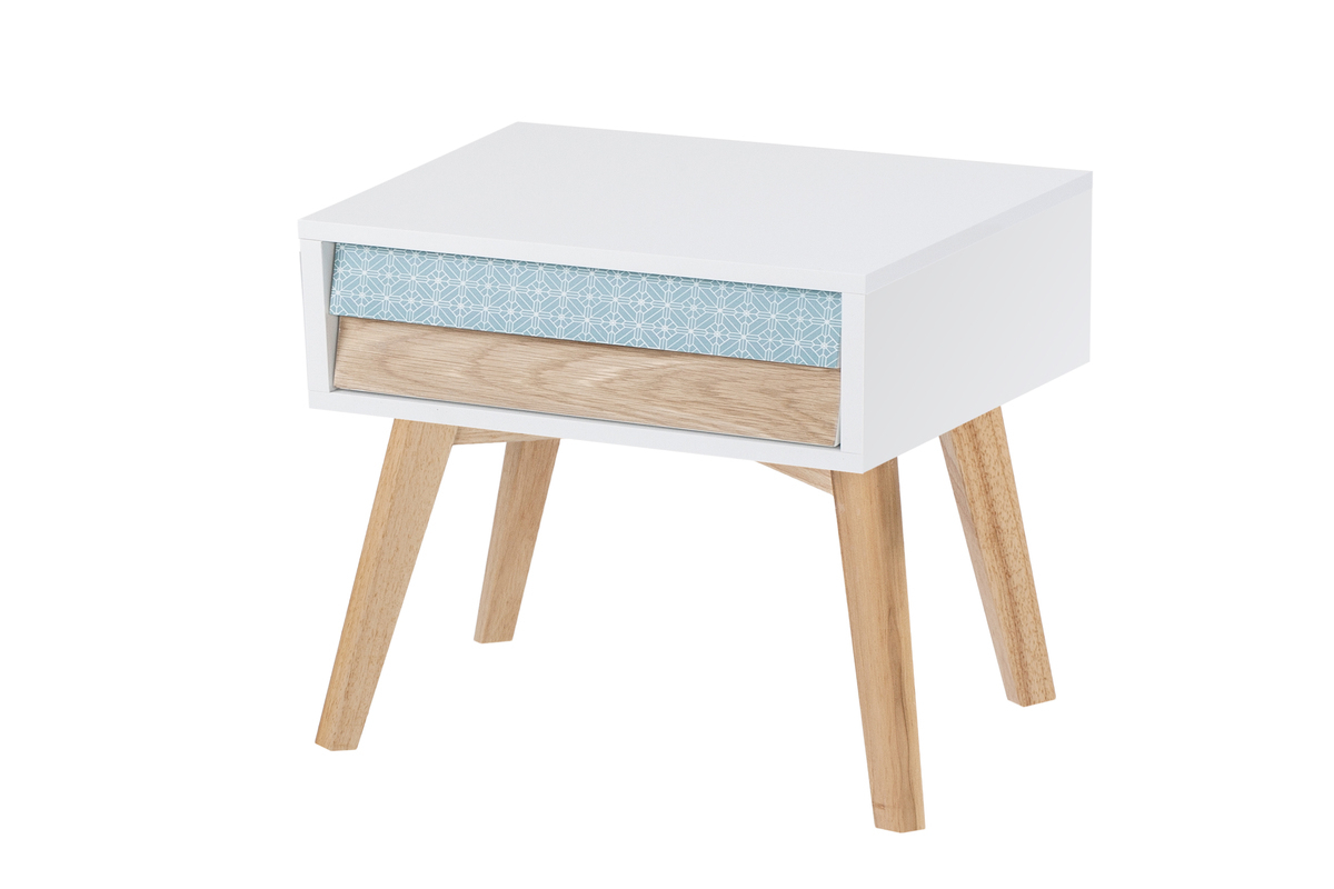 Side Table Night Table Scandi Scandinavian Design Table Small White