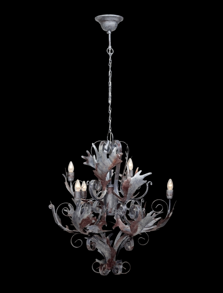 Leuchte Chandelier Pendant Large Burnished Silver