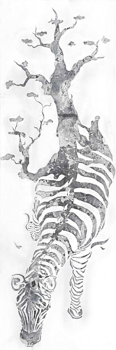 Ölbild Zebra 150cm x 50cm