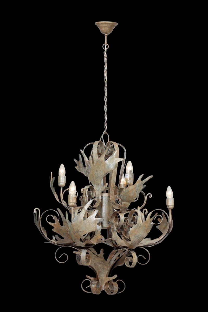 Leuchte Chandelier Pendant Large Burnished Champagne
