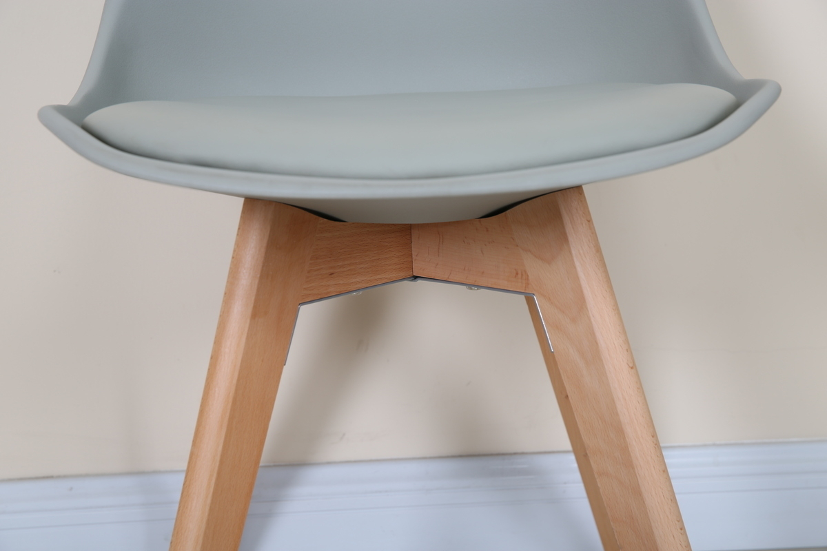 2er set st hle hochwertig stuhlbeine aus holz design schalenstuhl modern grau ebay. Black Bedroom Furniture Sets. Home Design Ideas
