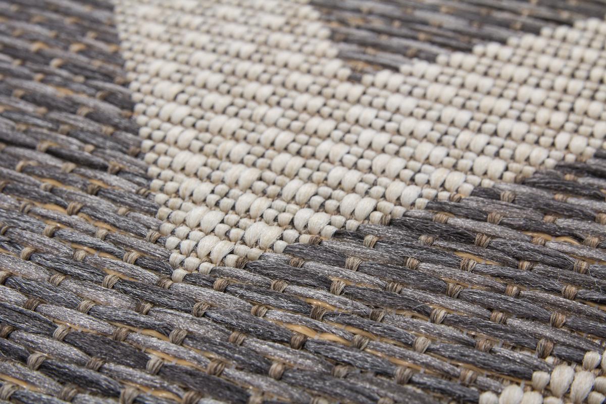Flachflor Teppiche Modern In und Outdoor Grau Elfenbein