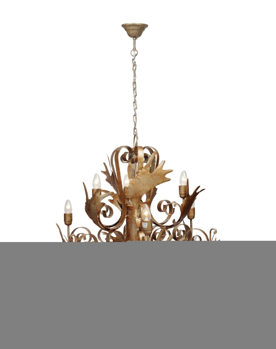 Leuchte Chandelier Pendant Large Burnished Gold