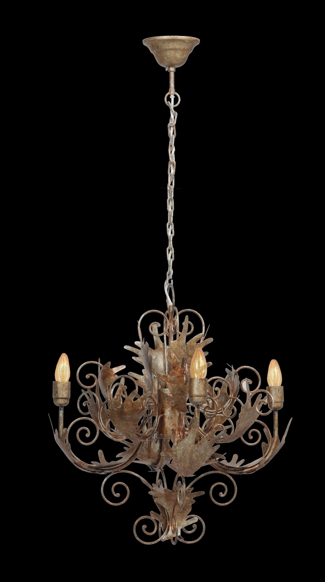 Leuchte Chandelier Pendant Small Burnished Gold