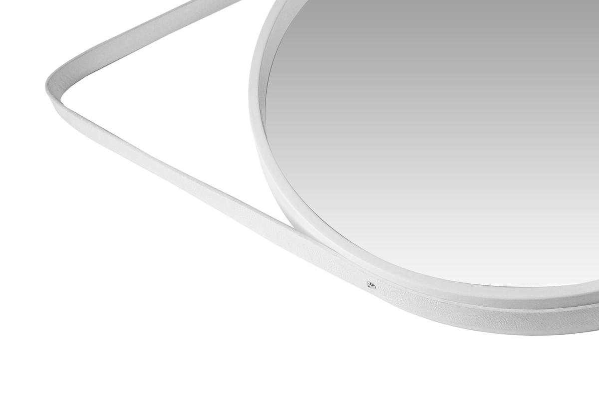spiegel rund wandspiegel dekospiegel wanddeko deko wei ebay. Black Bedroom Furniture Sets. Home Design Ideas