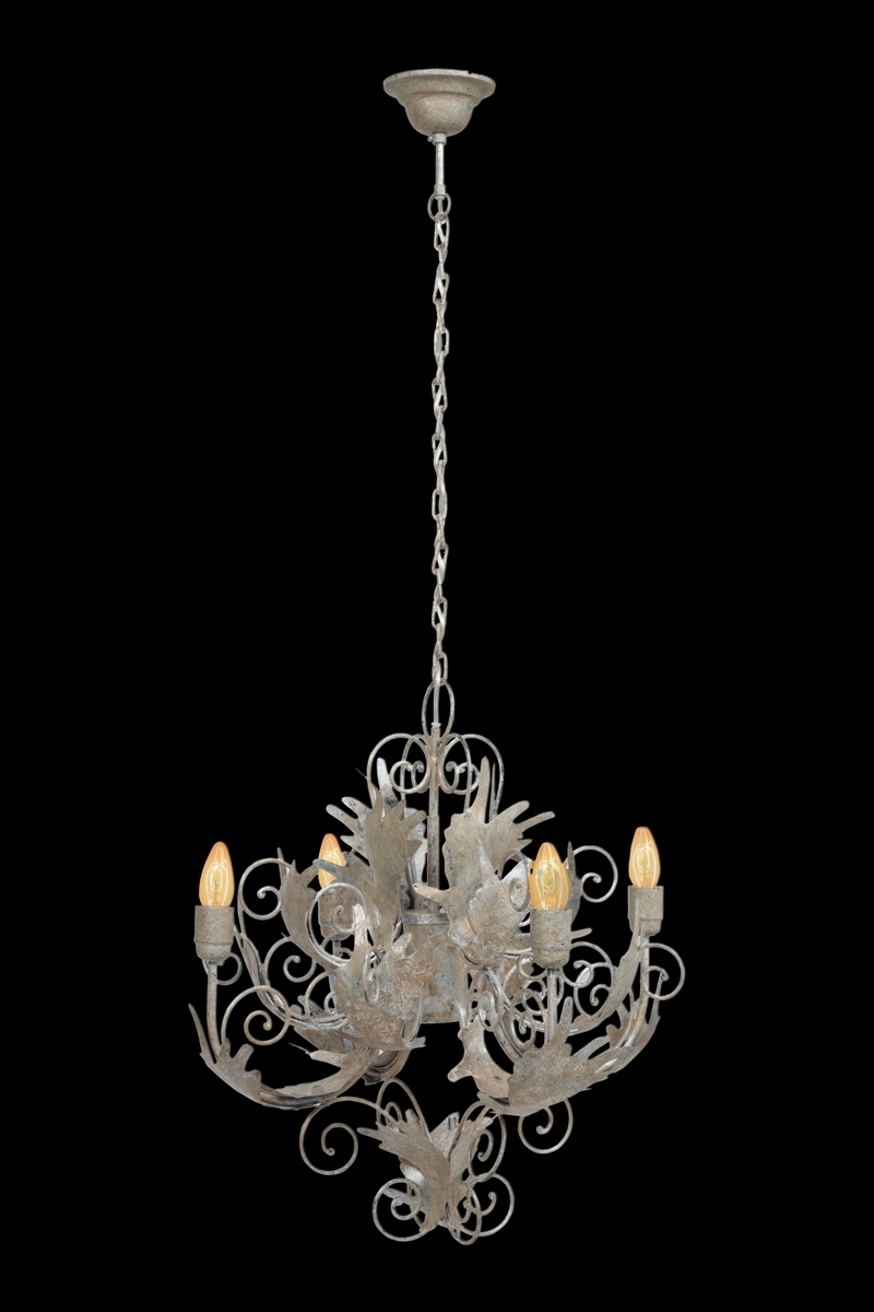 Leuchte Chandelier Pendant Small Burnished Silver
