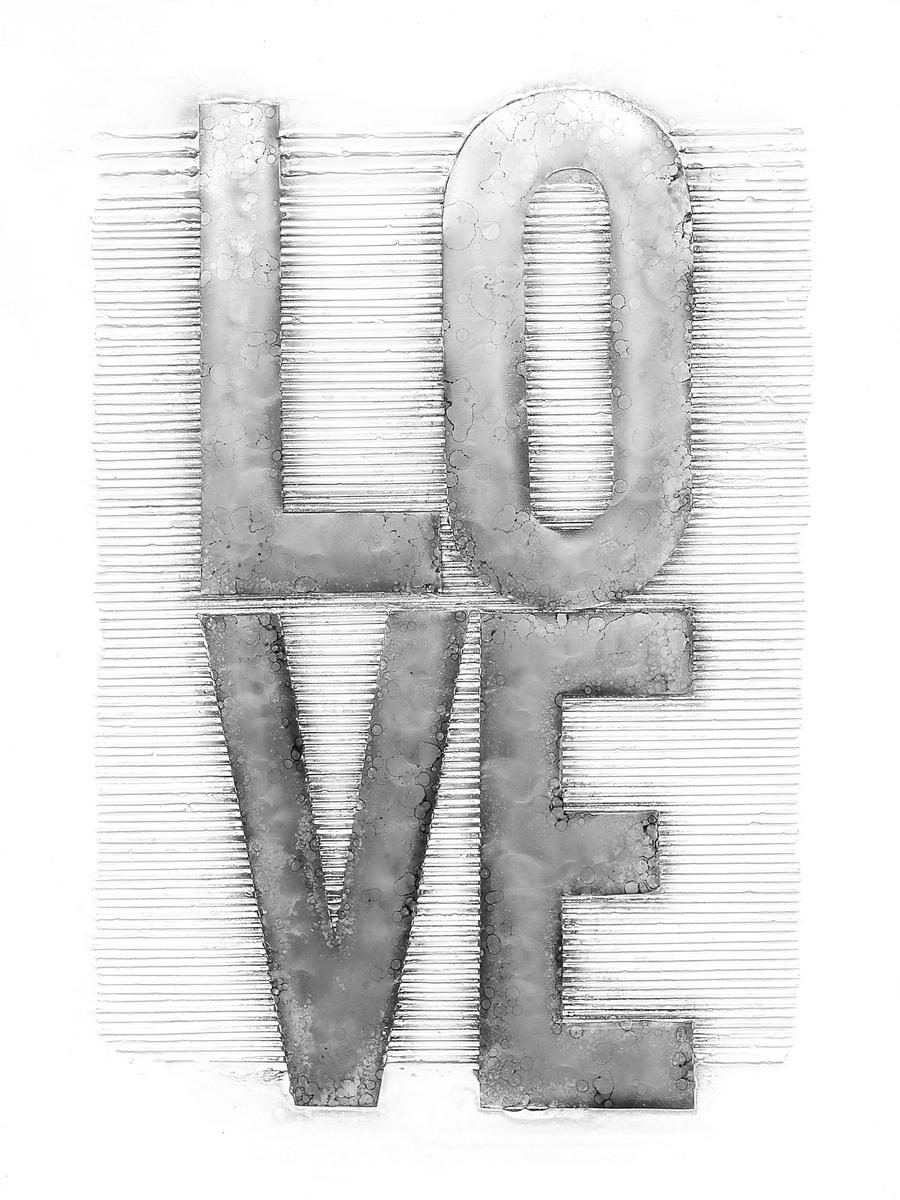 Aluminium Bild Love 100cm x 80cm