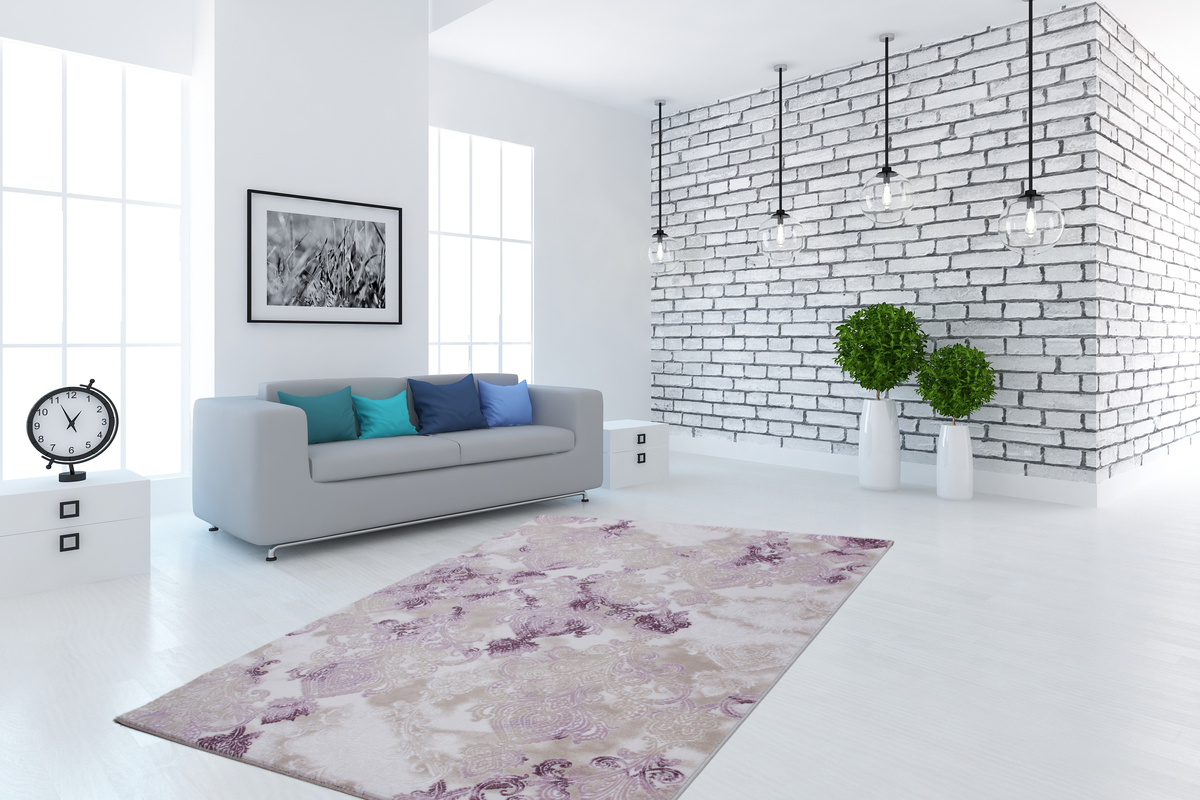 Klassischer Teppich Orient Design Modern Flachflor 3D