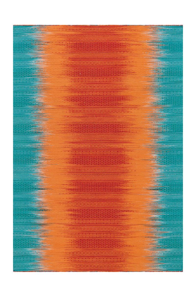Arte Espina Tapis Moderne Dégradé de Couleur Salon Orange Turquoise ...
