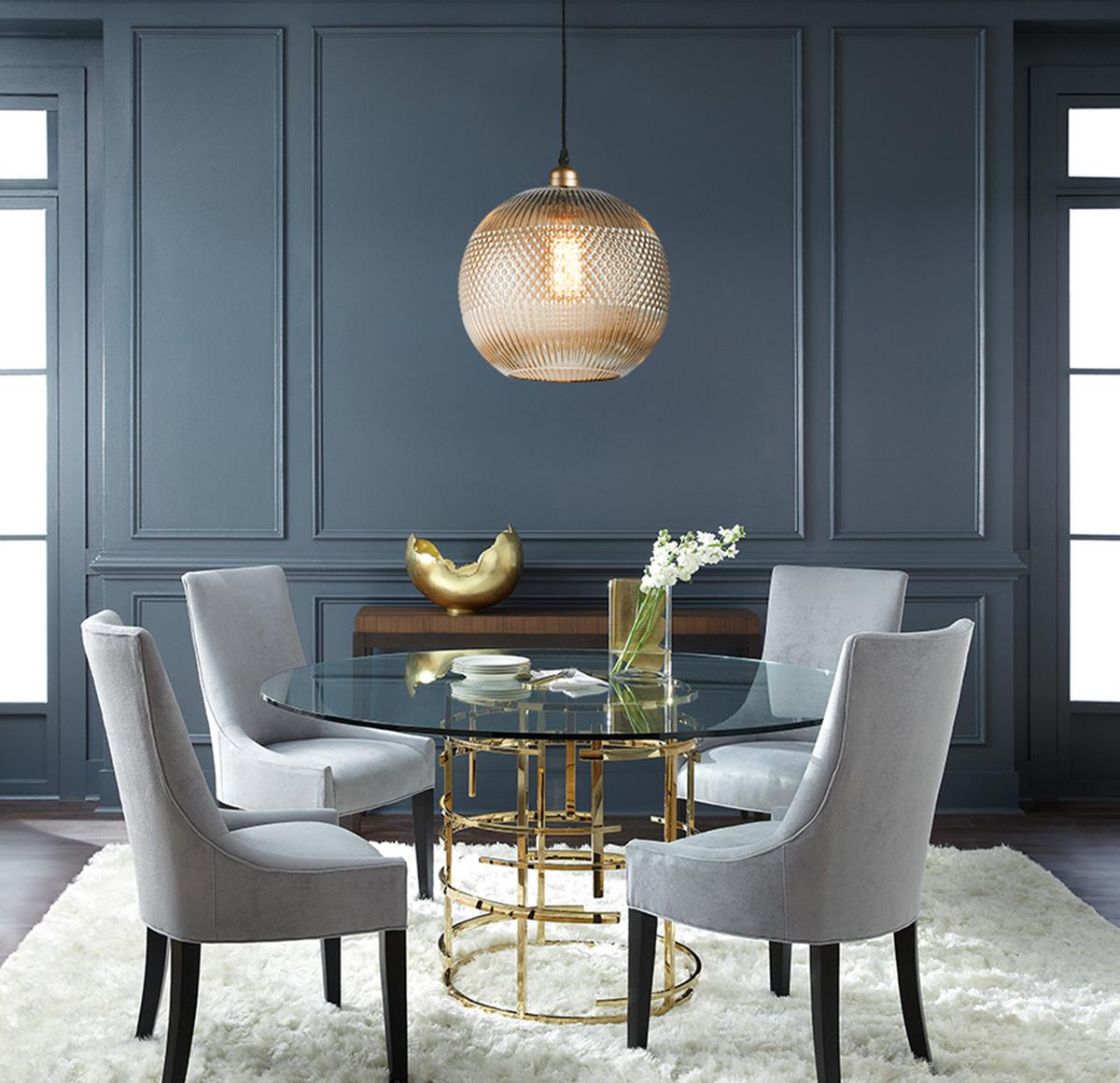 design pendelleuchte glash ngeleuchte deckenlampe grau kupfer glas goldgrau ebay. Black Bedroom Furniture Sets. Home Design Ideas