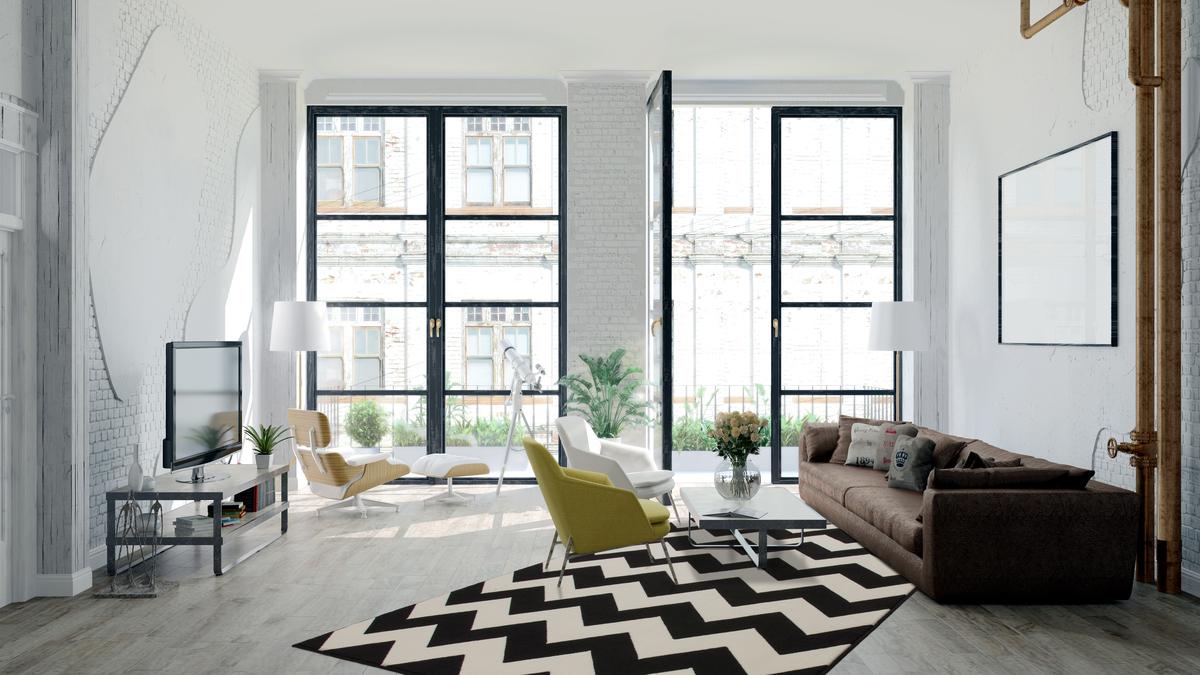 Zick zack flachflor teppich arabesque nordic scandic teppiche schwarz 120x170 cm ebay - Teppich schwarz weiay zick zack ...