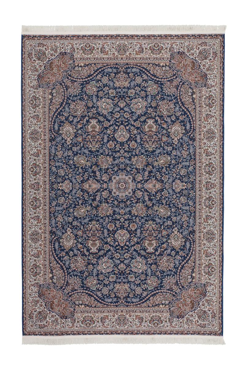 rklassischer orient teppich hochwertig flachflor navy blau 120x170cm ebay. Black Bedroom Furniture Sets. Home Design Ideas