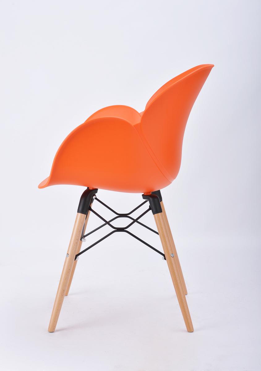 sitzm bel design st hle orange stuhl top modern aus kunststoff hochwertig ebay. Black Bedroom Furniture Sets. Home Design Ideas